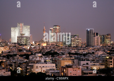 View over the skyline of Tel Aviv, Israel. - Stock Photo