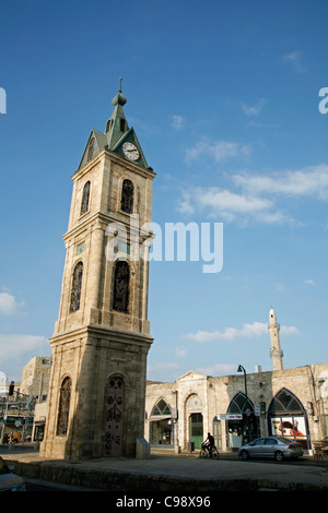 The Clock Tower in Old Jaffa, Tel Aviv, Israel. - Stock Photo