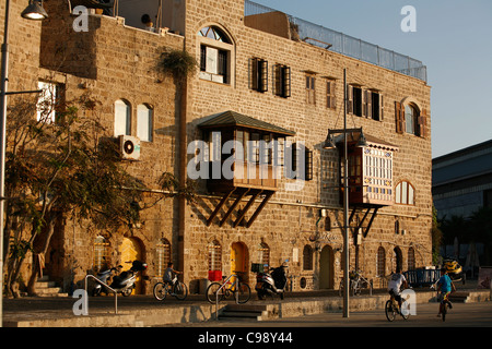 Old building by the port in Old Jaffa, Tel Aviv, Israel. - Stock Photo