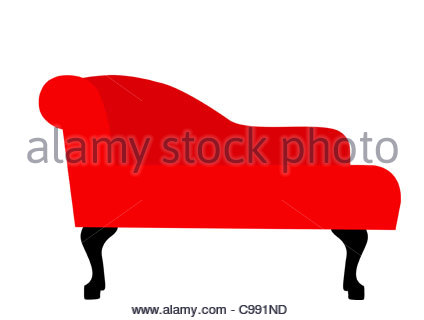 red recamiere optional chair sofa mbel home stock photo - Sofa Mbel