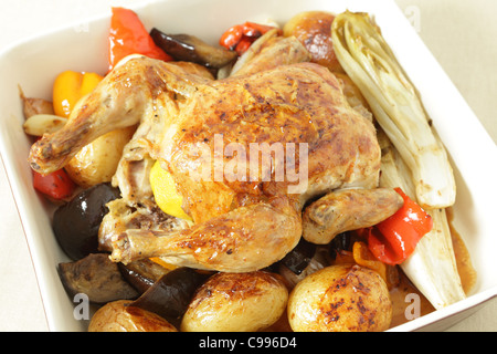 ... oven roasted vegetables, including potatoes, capsicum, endive
