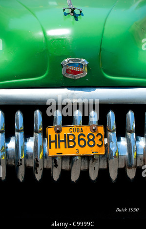 Classical American Buick 1950 Havana Cuba - Stock Photo