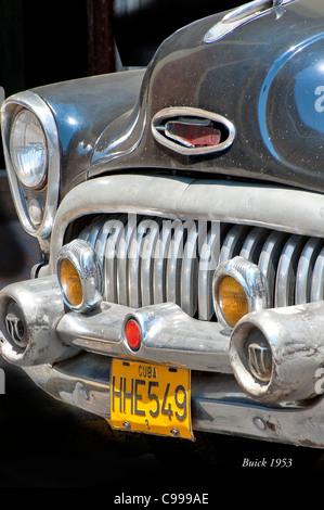 Classical American Buick 1953 Havana Cuba - Stock Photo