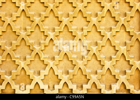 Seamless oriental wall pattern as a background - Stock Photo