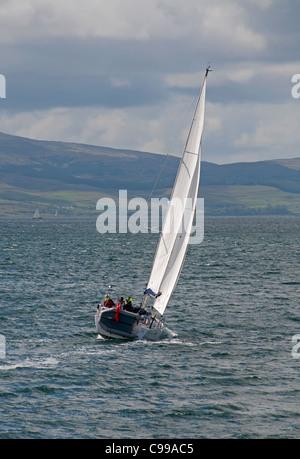 Recreational sailing in the Sound of Mull, Lochaline, Scotland.  SCO 7742 - Stock Photo