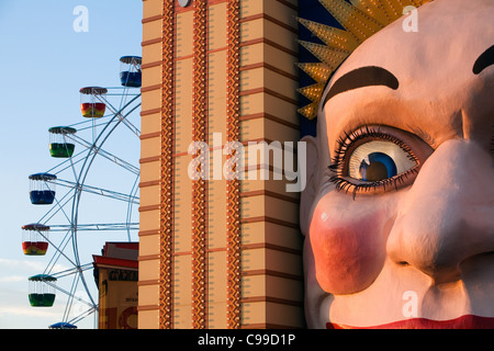 Luna Park - Sydney's historic amusement park at Milson's Point. Sydney, New South Wales, Australia - Stock Photo