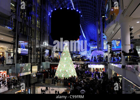 ... Christmas Season 2011; Toronto Eaton Centre Has Been Transformed Into A  Winter Wonderland With Lights And Decorations For The