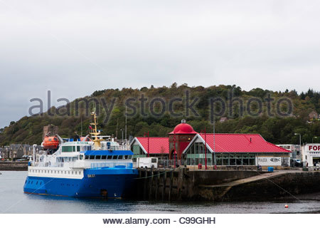 Island our ship 'Quest' moored in Oban Harbour, Argyll, Scotland - Stock Photo