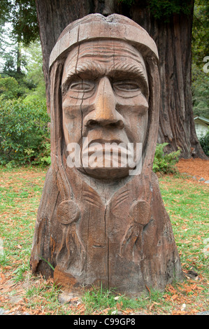 California Redwoods Redwood wooden sculpture statue United States of America - Stock Photo