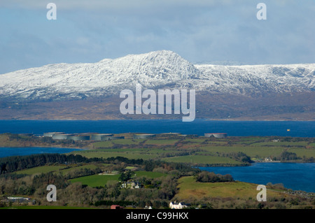 Sugarloaf, Beara, West Cork, covered in snow - Stock Photo