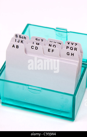 index folder organized by letters box type - Stock Photo