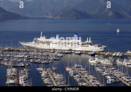 Thomson 'Celebration' cruise ship at Marmaris cruise port, Muğla, Turkey - Stock Photo