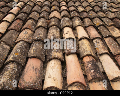 weathered roof tiles - Stock Photo
