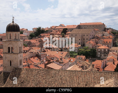 Dubrovnik rooftop view - Stock Photo