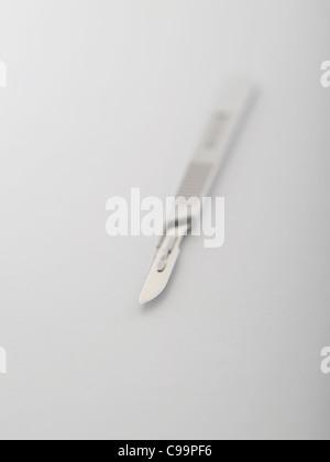 Scalpel on white background - Stock Photo