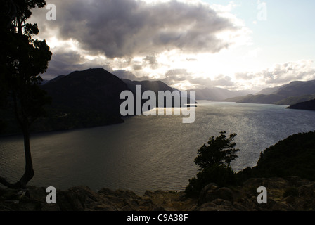 Lacar Lake, San Martin de los Andes, Neuquen, Argentina - Stock Photo