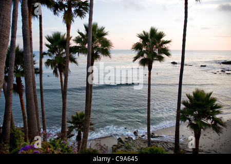 Laguna Beach evening view from Heisler Park - CA - Stock Photo