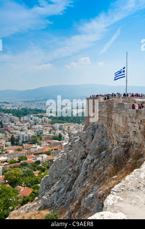 Athens skyline seen from the Acropolis. Greece. 2011. - Stock Photo