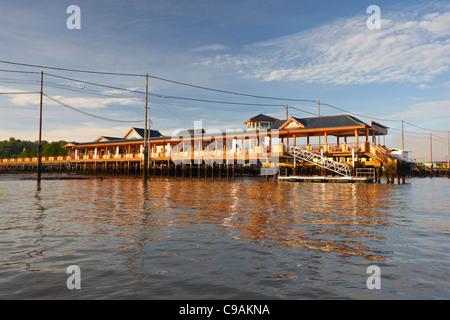 Kampung Ayer, Bandar Seri Begawan, Brunei Darussalam, Asia - Stock Photo