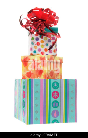 Stack of Gift Parcels - Stock Photo