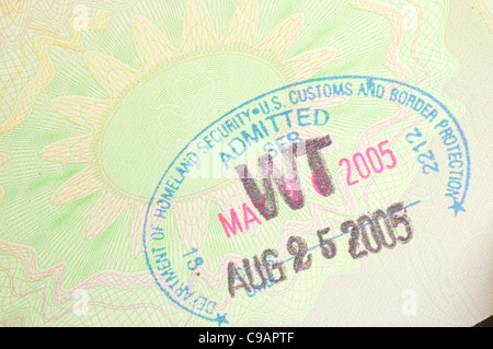 homeland security stamp - Stock Photo