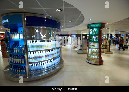 duty free alcohol section in the departures area of hong kong international airport chek lap kok sar china - Stock Photo