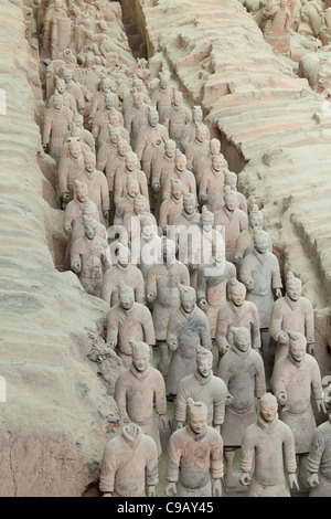 Terracotta Warriors Army Pit Number 1, Xian, Shaanxi Province, PRC, People's Republic of China, Asia - Stock Photo