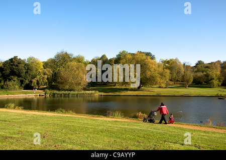Highgate Ponds Hampstead Heath London England - Stock Photo