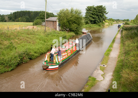 Historic working narrowboat Plover on the Shropshire Union Canal - Stock Photo