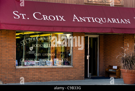 St. Croix Antiquarian Booksellers in Stillwater, Minnesota, a town known for its bookstores, art galleries and antique - Stock Photo