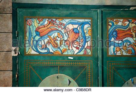 Artwork,on,a,door,Istanbul,Turkey - Stock Photo