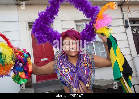 Notting Hill Carnival 2011, Children's Day - Stock Photo