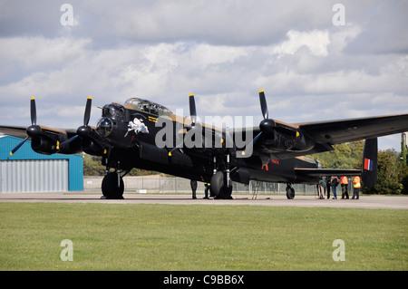 Avro Lancaster at Kemble Airfield - Stock Photo