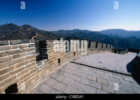 HighAngle View of a Section of the Great Wall, Badaling Section, China - Stock Photo
