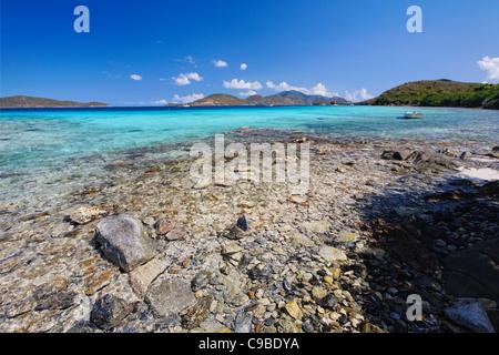 Waterlemon Cay, St John, US Virgin Island - Stock Photo