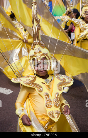 Notting Hill Carnival 2011, Children's Day, Mahogany Carnival Group - Stock Photo