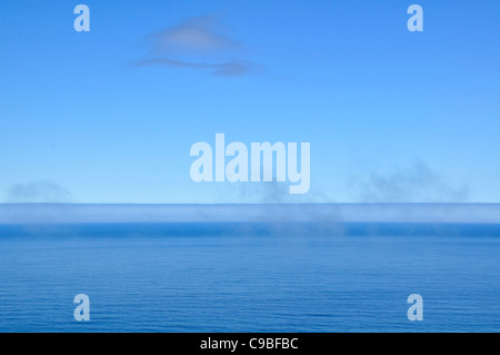 Abstract of clouds, fog and sky over the Pacific ocean off the coast of Oregon. - Stock Photo