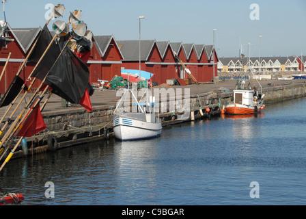 Fishing port of Hasle on the northwest coast of the Baltic Sea island of Bornholm - Stock Photo