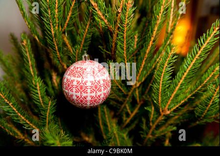 Ball on a Christmas tree - Stock Photo