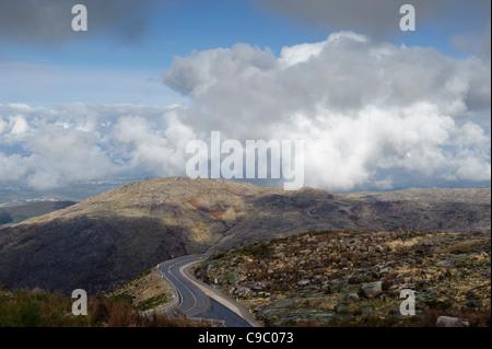 Scenic view of the Serra da Estrela mountains, Portugal, Europe - Stock Photo