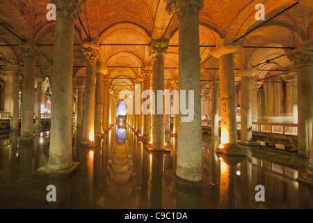 Yerebatan Sarnici , Sunken Palace Cistern, Istanbul, Turkey , Europe, - Stock Photo