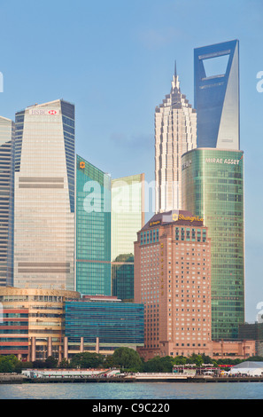 Shanghai Pudong Skyline, Shanghai, Peoples Republic of China, PRC, Asia - Stock Photo