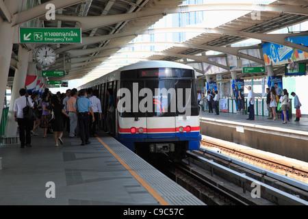 BTS Skytrain, Bangkok, Thailand, Asia - Stock Photo