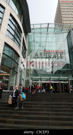Exterior entrance of the Arndale Shopping Centre urban Manchester England UK KATHY DEWITT - Stock Photo