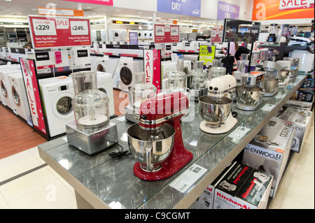 Electrical kitchen appliances in Comet store, London, England, UK - Stock Photo