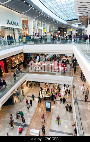 Westfield Stratford City shopping mall, London, England, UK - Stock Photo