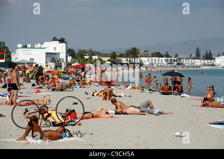 Poetto Beach, Cagliari, Sardinia, Italy. - Stock Photo