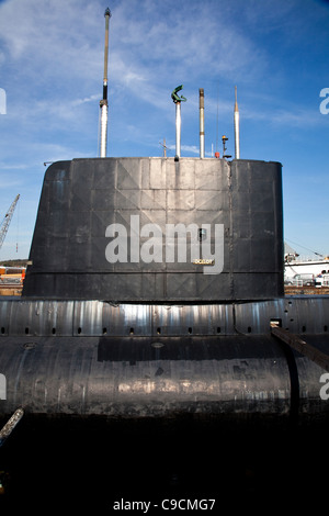 Submarine HM Ocelot at The Historic Dockyard Chatham - Stock Photo