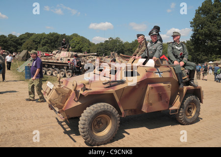 A Leichter Panzerspähwagen recon vehicle on display at the 2011 War & Peace Show at Hop Farm, Paddock Wood, Kent, - Stock Photo