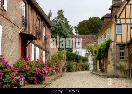 The village of Gerberoy Picardy France has been voted as the most beautiful village in France - Stock Photo